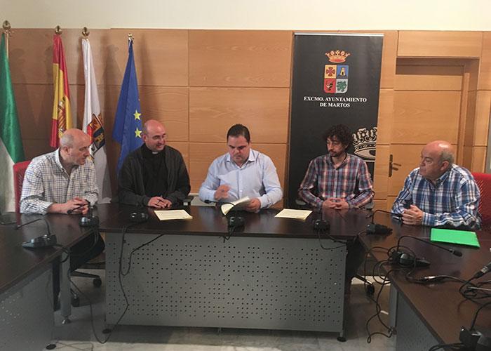 Firmado el convenio para concluir la restauración de las pinturas barrocas de la parroquia de Santa Marta