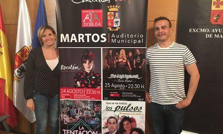 Rozalén, Medina Azahara, La Tentación y la artista Irene Martínez, conciertos de San Bartolomé