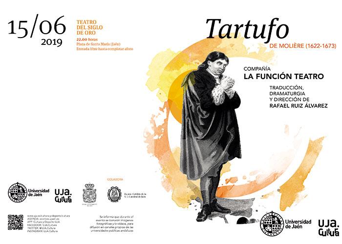 La UJA lleva hasta la Plaza de Santa María la representación de 'Tartufo', de Molière