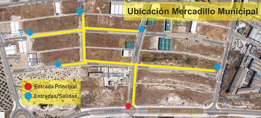 El Ayuntamiento sitúa la ubicación provisional del mercadillo en el Polígono de Los Olivares durante la Feria de San Lucas