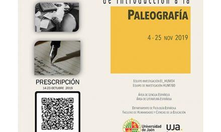 La UJA pone en marcha el Seminario Internacional de Introducción a la Paleografía
