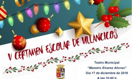El 17 de diciembre se celebra el V Certamen Escolar de Villancicos en el Teatro Maestro Álvarez Alonso