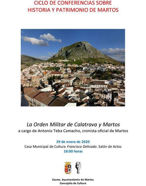 Ciclo de Conferencias sobre Historia y Patrimonio de Martos