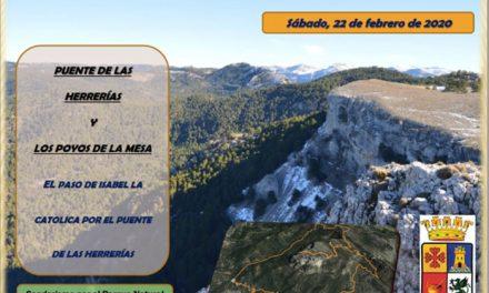 El viernes 14 de febrero se abre el plazo de inscripción de la ruta Puente de Las Herrerías-Poyos de la Mesa