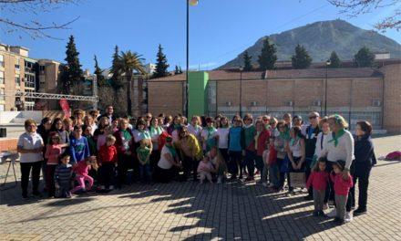 El grupo de gimnasia de mantenimiento participa en un desayuno aceitunero por el Día de Andalucía