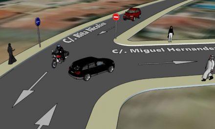 Cambio del sentido de circulación en un tramo de Rita Nicolau para favorecer la fluidez del tráfico