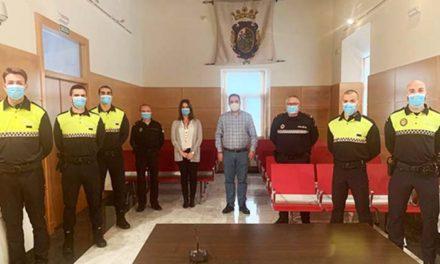 Cinco nuevos agentes se incorporan a la plantilla de la Policía Local