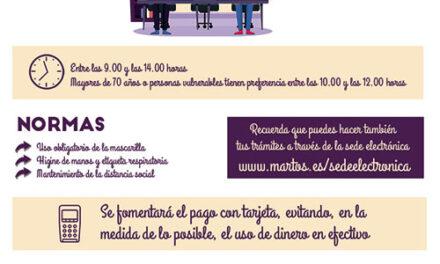 Reapertura al público de los servicios generales del Ayuntamiento de Martos