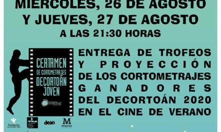 La Alameda acogerá la entrega de premios y la proyección de los trabajos ganadores del festival de cortometrajes Decortoán Joven