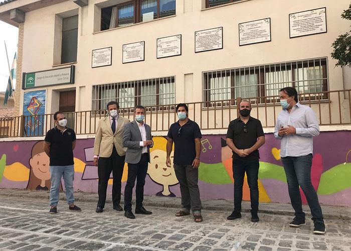 El Ayuntamiento de Jaén destaca el esfuerzo de promoción de la cultura de Círculo Ánimas gracias al proyecto 'Azulejos por Jaén'