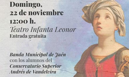 El Ayuntamiento de Jaén celebra el Día de Santa Cecilia con un concierto de la Banda Municipal y alumnos del Conservatorio Superior Andrés de Vandelvira