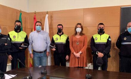 Tres nuevos agentes se incorporan a la plantilla de la Policía Local marteña