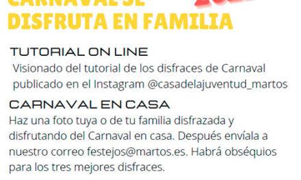 Tutoriales, programación especial en Radio Martos y un concurso de fotos para celebrar el carnaval