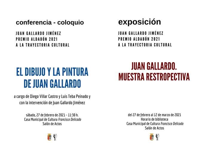 Conferencia – coloquio sobre Juan Gallardo, premio Aldabón 2021 a una trayectoria cultural