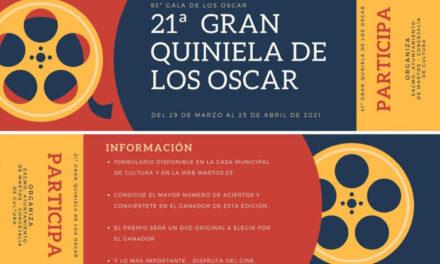 Cultura organiza la 21 edición de «La Gran Quiniela de los Oscar»