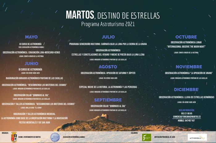 El Ayuntamiento presenta el ambicioso programa de astroturismo 'Martos, destino de estrellas'