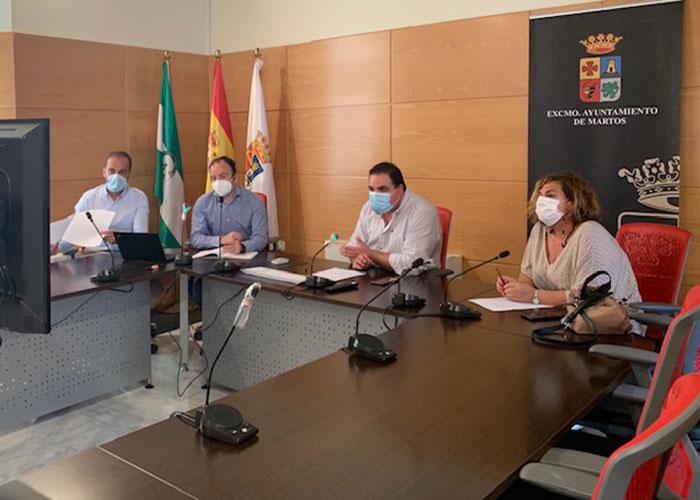 El alcalde destaca el intenso trabajo para que Martos pueda dotarse de un centro de FP integrado