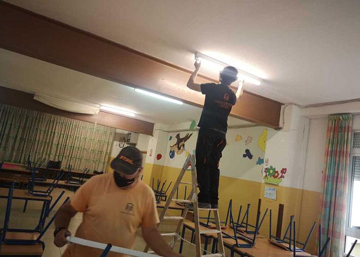 El Ayuntamiento de Jaén realiza reparaciones en los centros escolares de la capital y ultima un contrato de obras de mayor entidad por 600.000 euros