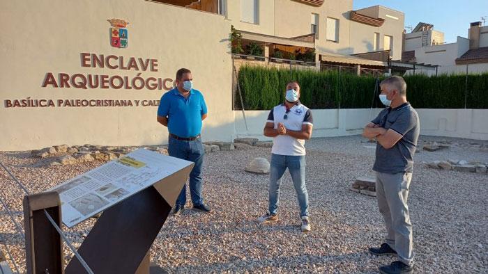 El Ayuntamiento de Martos recupera los restos arqueológicos de la basílica paleocristiana y la calzada romana con una inversión de 33.000 euros