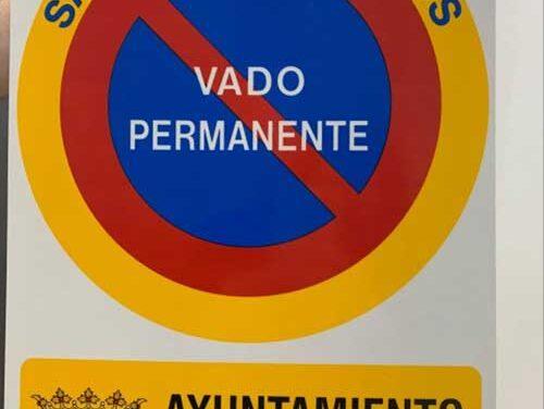 El Ayuntamiento de Martos hace un llamamiento para que se regularicen los vados antes del 31 de diciembre